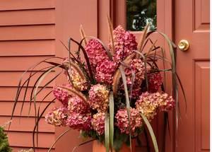 Sun-Oct 11- 2020 ^ 3pm ^ Hydrangea Stem Porch Pot